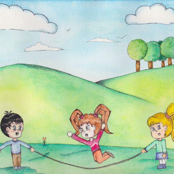 Children book illustration watercolour