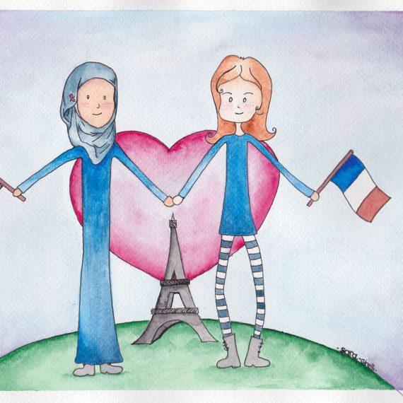 France solidarity Illustration