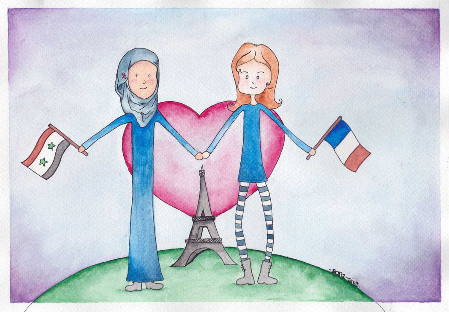 France solidarity Illustration