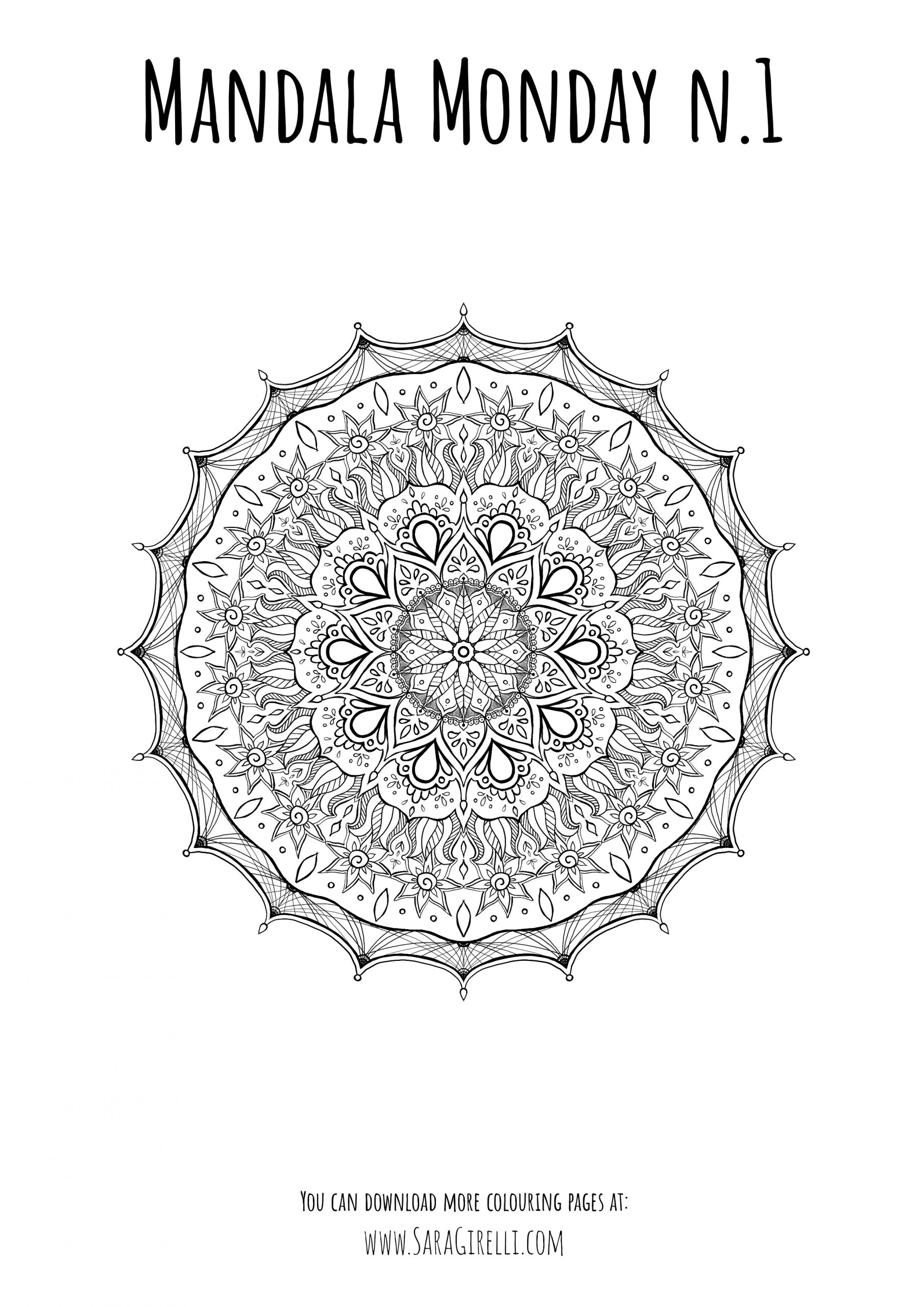 Image of the Monday Mandala number 1